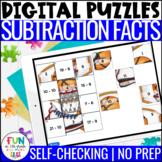 Subtraction Facts Digital Puzzles | Math Fact Practice | D