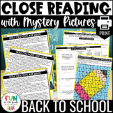 Close Reading Comprehension Activity | PRINT Only Version