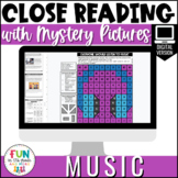 Close Reading Comprehension Passages: Music | Digital | Di