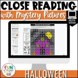 Halloween Close Reading Comprehension | Digital | Distance