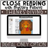 Thanksgiving Close Reading Comprehension | Digital | Dista