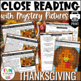 Thanksgiving Reading Comprehension Activity | PRINT Only