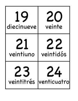 ONLY TARJETONES reconocimiento de números/ FLASH CARDS number recognition