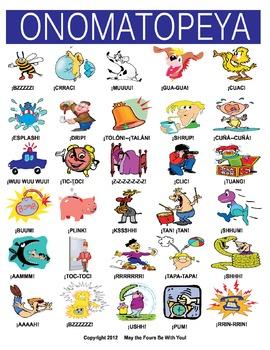 Onomatopoeia Figurative Language in Spanish
