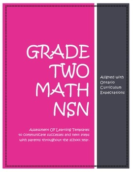 ONTARIO CURRICULUM,Assessment OF Learning,Grade TWO Number Sense and Numeration