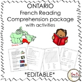 Ontario French Reading Comprehension Package *EDITABLE*