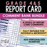 ONTARIO: Grades 4 & 5 Report Card Comment Bank BUNDLE