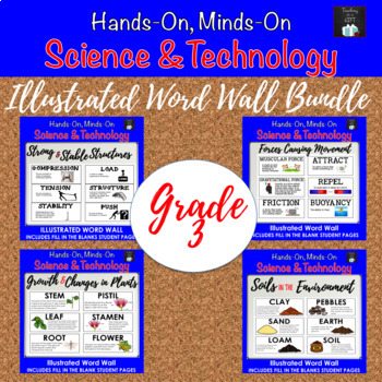 ONTARIO SCIENCE: GRADE 3  ILLUSTRATED WORD WALL MEGA BUNDLE