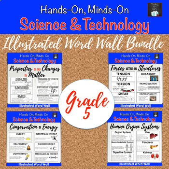 ONTARIO SCIENCE: GRADE 5  ILLUSTRATED WORD WALL MEGA BUNDLE