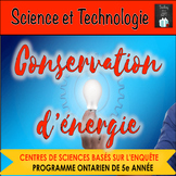 ONTARIO SCIENCE FRENCH EDITION: EDITABLE CENTRES CONSERVATION D'ENERGIE
