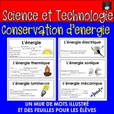 ONTARIO SCIENCE FRENCH EDITION: MUR DES MOTS CONSERVATION D'ENERGIE