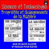 ONTARIO SCIENCE FRENCH EDITION: MUR DES MOTS PROPRIETES DE LA MATIERE