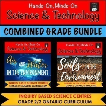 ONTARIO SCIENCE: GRADE 2/3 AIR & WATER AND SOILS IN THE ENVIRONMENT BUNDLE