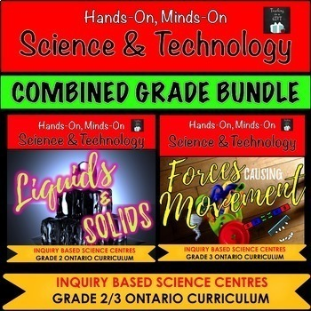 ONTARIO SCIENCE: GRADE 2/3 PROPERTIES OF LIQUIDS & SOLIDS AND FORCES BUNDLE