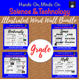 ONTARIO SCIENCE: GRADE 6  ILLUSTRATED WORD WALL MEGA BUNDLE