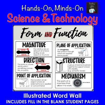ONTARIO SCIENCE: GRADE 7 FORM AND FUNCTION ILLUSTRATED WORD WALL