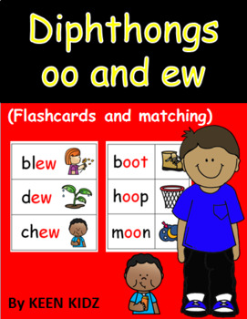 OO AND EW FLASHCARDS AND MATCHING