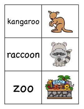 OO Diphthong Picture Word Match