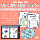 OO, EW, UE QR Code Task Cards with Distance Learning Optio