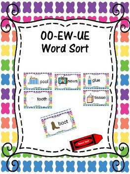 OO EW UE Word Sort