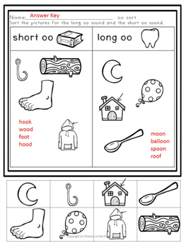 OO Freebies- Picture sort and Fluency Cards