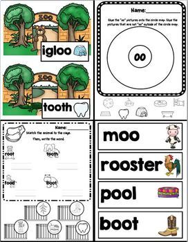 OO Like In Zoo (A Vowel Diagraph OO Unit)