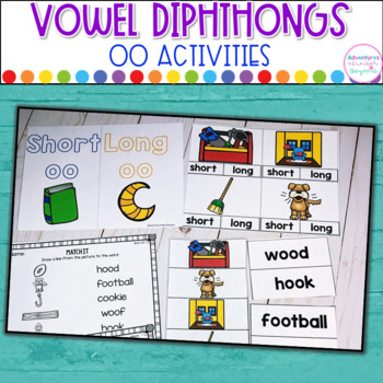 OO Word Sort-  Diphthong Activities and Printables