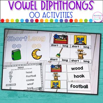 OO Word Sort-  Diphthongs Activities and Printables