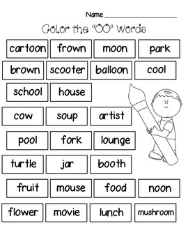 """OO"" Words Activity Pack"