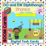 OO and EW Diphthongs BOOM CARDS!