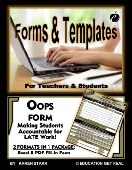 """OOOPS FORM TEMPLATE (Word) """"Form for Submission of Late Work"""""""