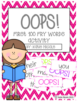 OOPS! First 100 Fry Words/Sight Words Activity