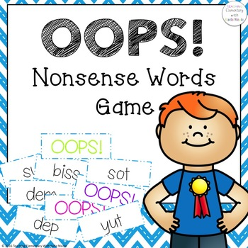 OOPS! Nonsense Word Activity