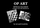 OP ART OPTICAL ILLUSION lesson and art projects