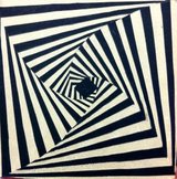 OP ART Relief Lesson - 7th through 12th