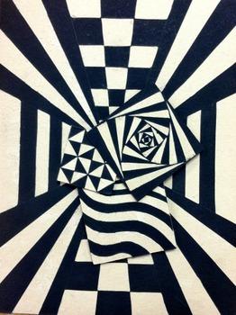 OP ART Relief Lesson - 7th through 12th