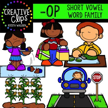 OP Short O Word Family {Creative Clips Digital Clipart}
