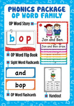 'OP WORD FAMILY' Phonics Lesson Package