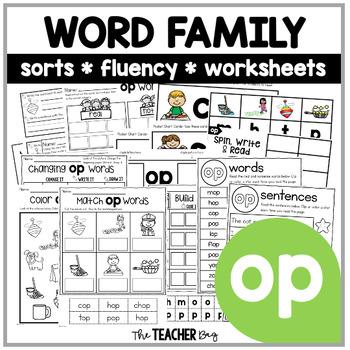 OP Word Family Activities