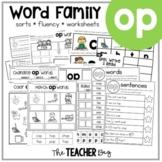OP Word Family Activities