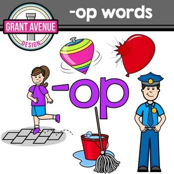 OP Word Family Clipart - CVC Clipart
