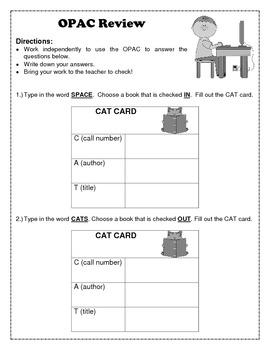 OPAC Review Worksheet