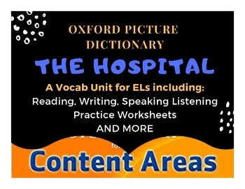 Oxford Picture Dictionary Content Areas: Hospital Vocabulary for ESL beginner