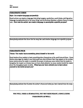 openendedthesis driven response essay by dwgeorge  tpt openendedthesis driven response essay