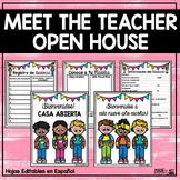 OPEN HOUSE   MEET THE TEACHER   Spanish Editable Templates
