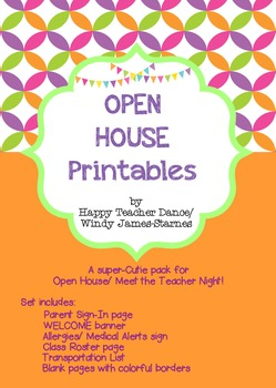 OPEN HOUSE PRINTABLES  {Bright Colors!}