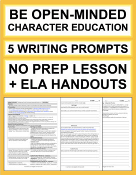 OPEN-MINDED Activities: 5 Writing Prompts