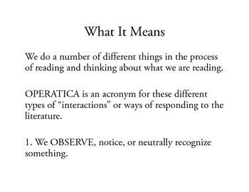 OPERATICA: A Method for Annotating Literature