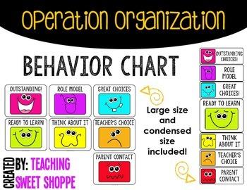 OPERATION ORGANIZATION:  Behavior Chart!