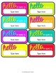 OPERATION ORGANIZATION:  Bright Editable Name Tags!